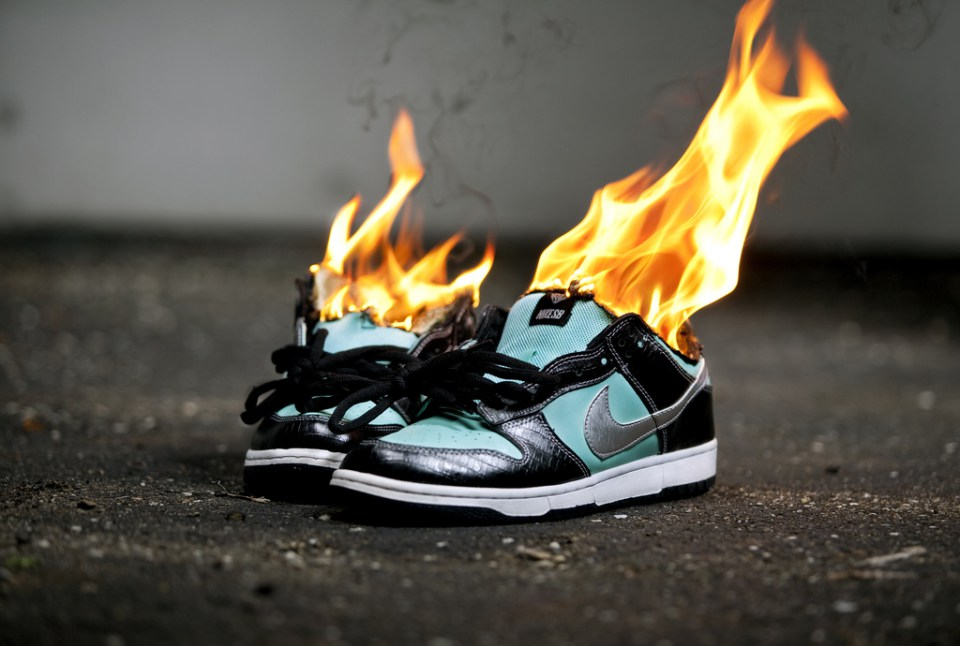 Keep burning your Nikes